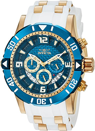 Invicta Men's Pro Diver Stainless Steel Quartz Diving Watch with Polyurethane Strap, Two Tone, 24 (Model: 23707)