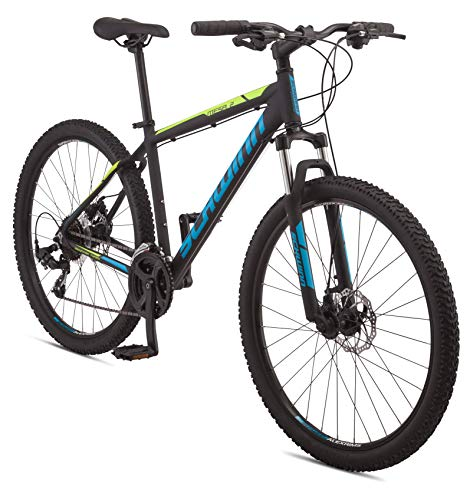 Schwinn Mesa 2 Adult Mountain Bike, 21 Speeds, 27.5 Inch Wheels, Extra Large Aluminum Frame, Black