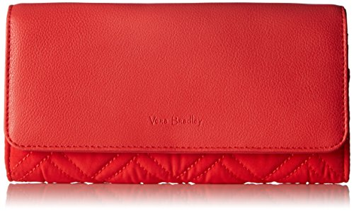 Vera Bradley Women's Microfiber Audrey Wallet with RFID Protection, Canyon Sunset