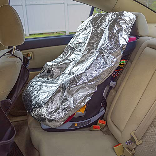 EcoNour Baby Car Seat Sunshade Cover | Infant Car Seat Heat Protector Keeps Your Toddler Baby Seat at a Cool Temperature | Reflective Carseat Cover Blocks Out Heat and Sun | Make your Kids Comfortable