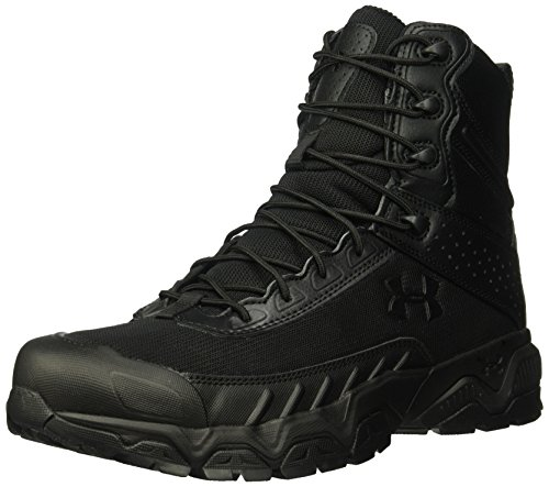 Under Armour Men's Valsetz Military and Tactical Boot, Black (001)/Black, 9.5