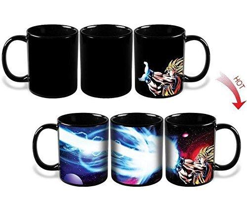 Minocat Goku Dragon Ball Heat Color Changing Kamehameha Coffee Mug Heat Reactive Cup Legendary Mug