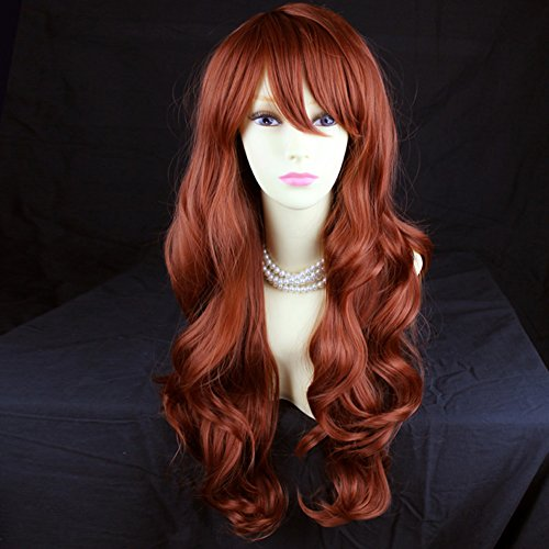 Wonderful Long Layered Wavy Fox Red Ladies Wig from Wiwigs