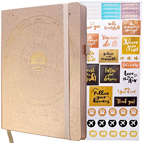 Deluxe Law of Attraction Academic Planner Sep 2020 - Dec 2021 - 16 Month, Weekly & Monthly planner to Increase Productivity & Happiness. Weekly Goal Planner, Organizer & Gratitude Journal + Planner Stickers