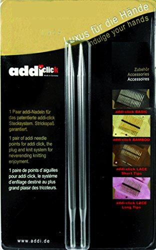 addi Click Interchangeable Knitting Needle Tips Standard Rocket (Long) Lace 5 inch (13cm) US 06 (4.0mm)