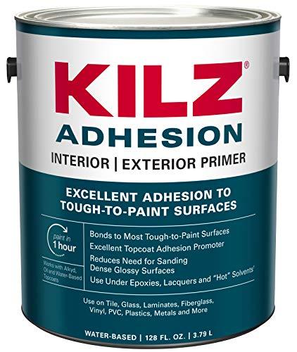 KILZ L211101 Adhesion High-Bonding Interior Latex Primer/Sealer, White, 1-Gallon, 1 Gallon, 128 Fl Oz