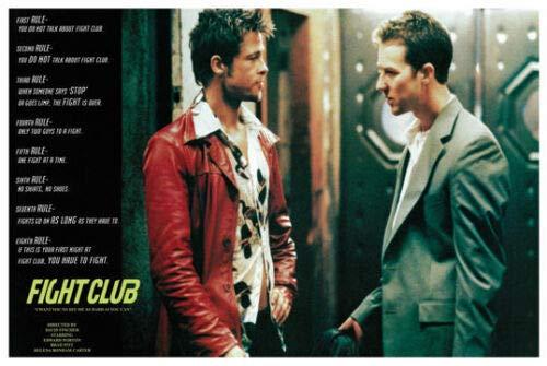 Hotstuff Fight Club (1999) Movie Poster Print Brad Pitt Edward Norton 24' 36'
