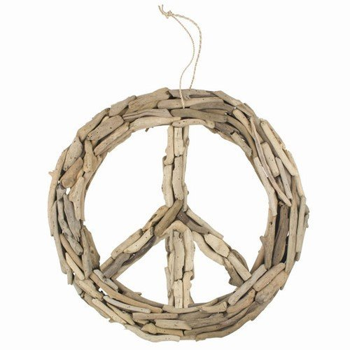 World Buyers Driftwood Peace Sign (Large 19')