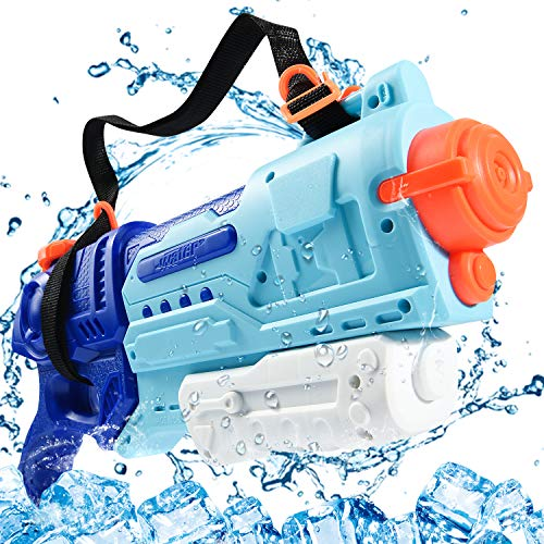 Joyjoz Water Gun for Kids, Squirt Guns with 1000CC Large Capacity Water Blaster Soaker Up To 40 Feet Range, Water Shoot Toys with Shoulder Strap for Boys Swimming Pools Beach Party Water Shooter Fight