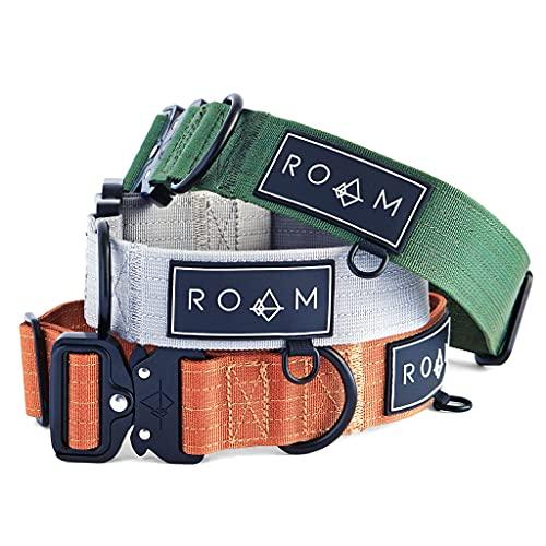 ROAM Premium Dog Collar - Adjustable Heavy Duty Nylon Collar with Quick-Release Metal Buckle (Nevada Evening, Size 4)