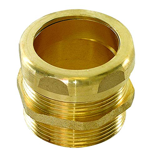 Eastman 35403 Heavy-Duty Male Trap Adapter with Slip-Joint Connection and Compression Ring, 1.4 x 2 x 2, Brass