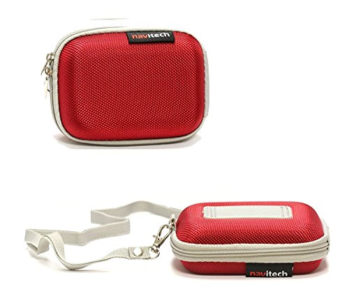 Navitech Red Water Resistant Hard Wireless Earphone Case Cover Compatible with The APIE Bluetooth Wireless Headset Ear Hooks Earphones Noise Cancelling in-Ear Earbuds