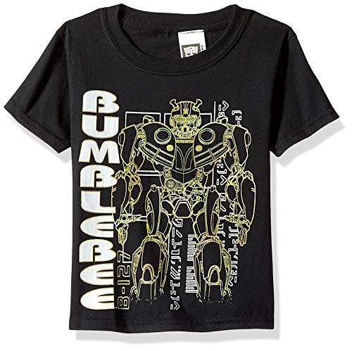Transformers Big Bumblebee Movie Silhouette Boys T-Shirt, Black, L-14/16