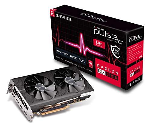 Sapphire 11265-67-20G Radeon Pulse RX 580 8GB GDDR5 Dual HDMI / DUAL DP OC w/ Backplate (UEFI) PCI-E Graphics Card