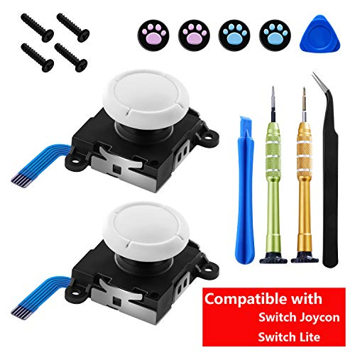 Melelife Original Replacement Joystick for Nintendo Switch Joycon and Switch Lite Repair Tool Kit