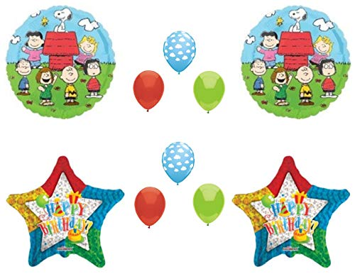 Peanuts Charlie Brown Birthday Party balloons decorations supplies Snoopy