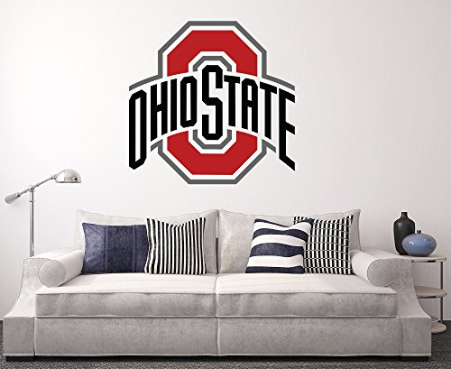 Ohio State Buckeyes Wall Decal Home Decor Art College Football NCAA Team Sticker