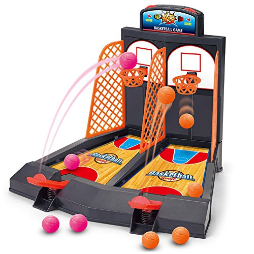 Basketball Shooting Game, YUYUGO 2-Player Desktop Table Basketball Games Classic Arcade Games Basketball Hoop Set, Fun Sports Toy for Adults-Help Reduce Stress