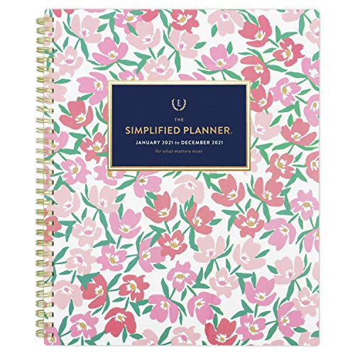 2021 Weekly & Monthly Planner Simplified by Emily Ley for AT-A-GLANCE, 8-1/2' x 11', Large, Floral (EL55-905)