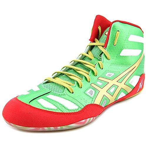 ASICS Men's JB Elite Wrestling Shoe 11.5 Green/Gold/White