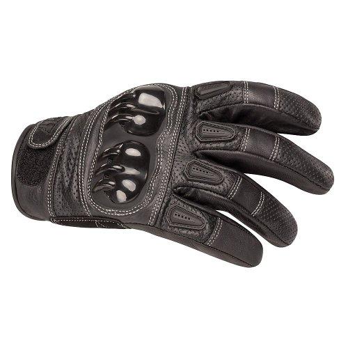 BILT Sprint Leather Motorcycle Gloves - XL, Black