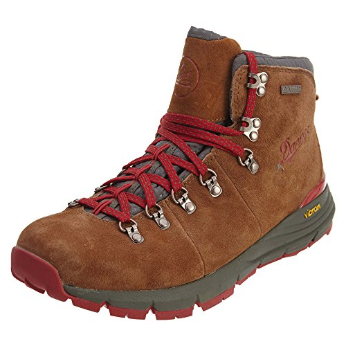 Danner Men's Mountain 600 4.5' Hiking Boot, Brown/Red - Suede, 8 D US