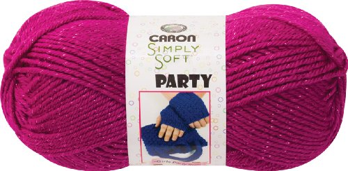 Caron Simply Soft Party Yarn (3-Pack) Fuchsia Sparkle H97PAR-2