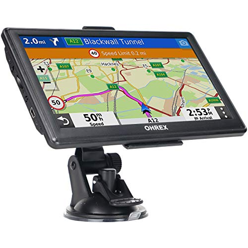 GPS Navigation for Truck & RV & Car, 7 Inch OHREX GPS Navigation System, GPS for Truck Drivers Commercial, 2021 Maps with Free Lifetime Update, Spoken Turn-by-Turn Directions, Driver Alerts