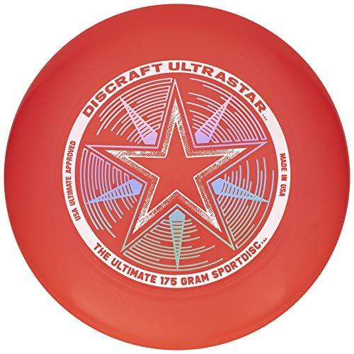 Discraft 175 Gram Ultra Star Sport Disc 175g Ultra Star Sport Disc, Bright Red
