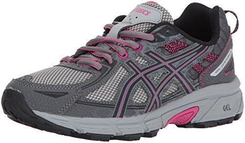 ASICS Women's Gel-Venture 6 Running-Shoes,Carbon/Black/Pink Peacock,9 Medium US