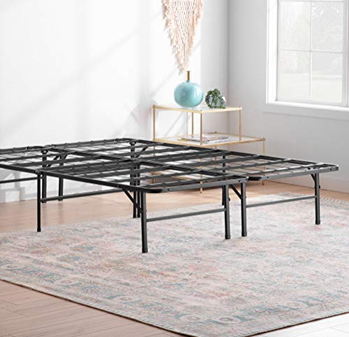 Linenspa14 Inch FoldingMetalPlatform Bed Frame - 13 Inches of Clearance - Tons of Under Bed Storage - Heavy Duty Construction - 5 Minute Assembly- Full