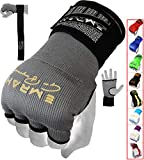 EMRAH PRO Training Boxing Inner Gloves Hand Wraps MMA Wraps Mitts - X (Grey, Medium)