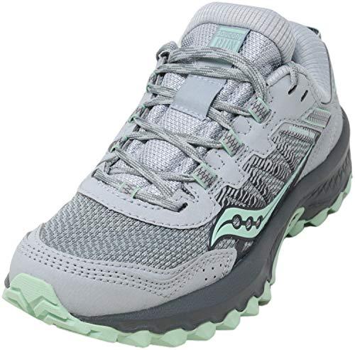 Saucony Women's Versafoam Excursion TR13 Trail Running Shoe, Grey/Honeydew, 9.5