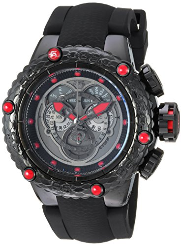 Invicta Men's Subaqua Stainless Steel Quartz Diving Watch with Silicone Strap, Black, 29 (Model: 25384)