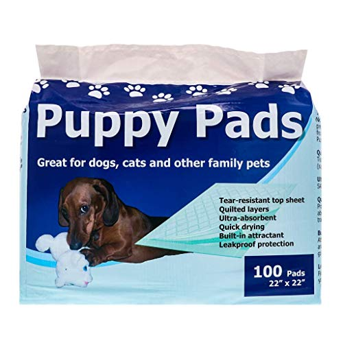 StayDry Pee Pads for Dogs - Durable, Super Absorbent, Layered Leak Proof Dog Pee Pads - Multi-Use including Puppy Crate Training - Puppy Pads 100 Count - 22' x 22'