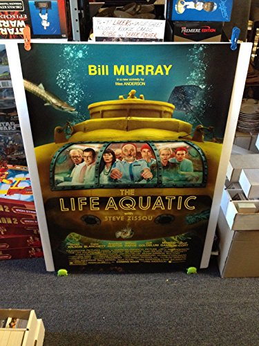 THE LIFE AQUATIC Movie Poster 27x40 One Sheet Double Sided BILL MURRAY