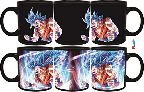 Sakura Elegance Vegeta Goku Black Anime Cartoon Character Dragon Ball Z Mug Fusion Collectibles Heat Reactive Color Changing Mugs 11oz (Goku) (Goku Blue)