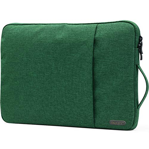 OneGET Laptop Sleeve Case Compatible with 2020 2019 MacBook Pro 16 inch15-15.6 inch MacBook Pro Retina 2012-2015, Notebook, Polyester Vertical Watercolor Marble Bag with Pocket(15.6-16Inch, Green)