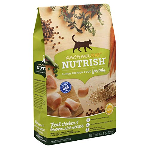 Rachael Ray Nutrish Premium Natural Dry Cat Food, Real Chicken & Brown Rice Recipe, 6 Pounds