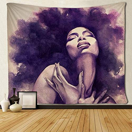 SARA NELL Tapestry African American Sexy Women Lady Tapestries Wall Art Hippie Bedroom Living Room Dorm Wall Hanging Throw Tablecloth Bedspread(50'¡Á60