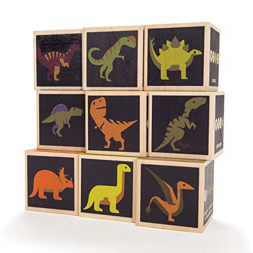 Uncle Goose Dinosaur Blocks - Made in The USA