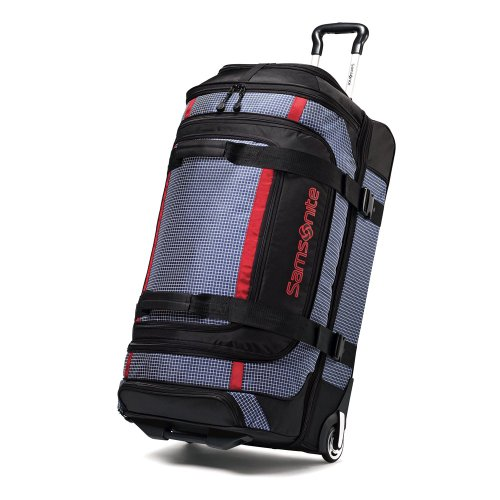 Samsonite Ripstop Wheeled Rolling Duffel Bag, Blue, 35-Inch