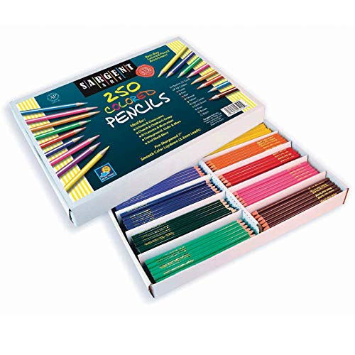 Sargent Art 250-Count Colored Pencil Class Pack, Best Buy Assortment, 22-7200