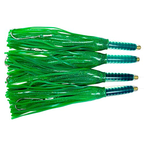 EatMyTackle Green Machine Fully Rigged Trolling Lures (4 Pack)