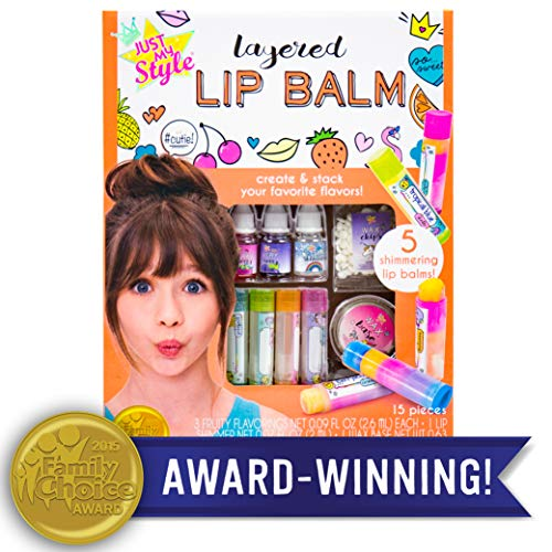 Just My Style Layered Lip Balm by Horizon Group USA, DIY 5 Shimmering Lip Balms, Mix Fruity Flavors To Make Your Own Unique Lip Balm. Strawberry, Tropical Fruit & Very Berry