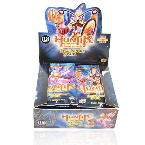 Upper Deck Huntik Trading Card Game TCG Legendary Saga Box - 24 Packs - 9 Cards Per Pack