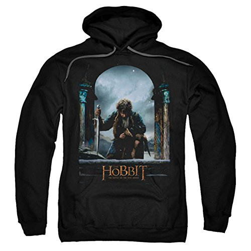 Hoodie: The Hobbit: The Battle of the Five Armies - Bilbo Poster Pullover Hoodie Size L