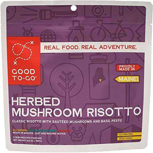 GOOD TO-GO Mushroom Risotto -Case of 12 Double Servings   Dehydrated Backpacking and Camping Food   Lightweight   Easy to Prepare