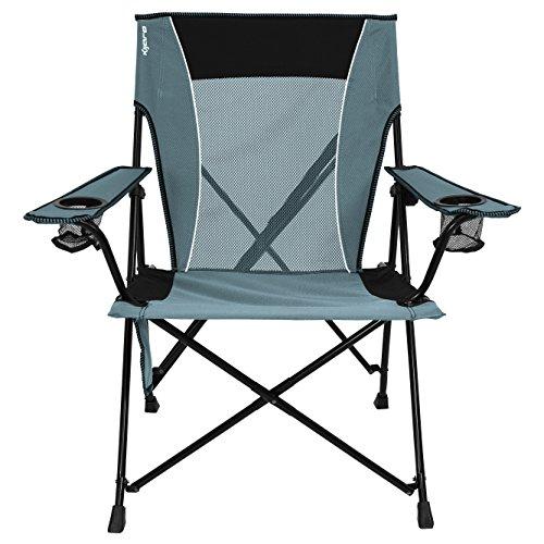 Kijaro Dual Lock Portable Camping and Sports Chair, Hallet Peak Gray