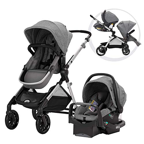 Pivot Xpand, Single-to-Double Convertible Baby Stroller with Compact Folding Design, Percheron Gray